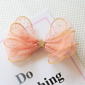 Lace Star Hair Bow